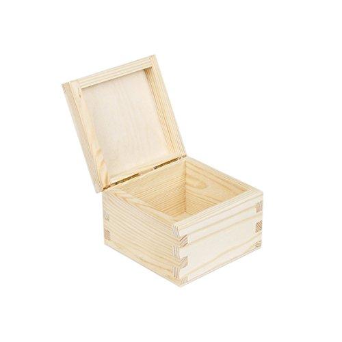 Teebox Holz Teekiste Teebeutel Teebeutelbox Teedose Teebeutelkiste 1 Fach