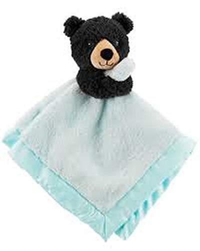 Carters Plush Brown 12 Baby Security Blanket, Blue Baby Blankie