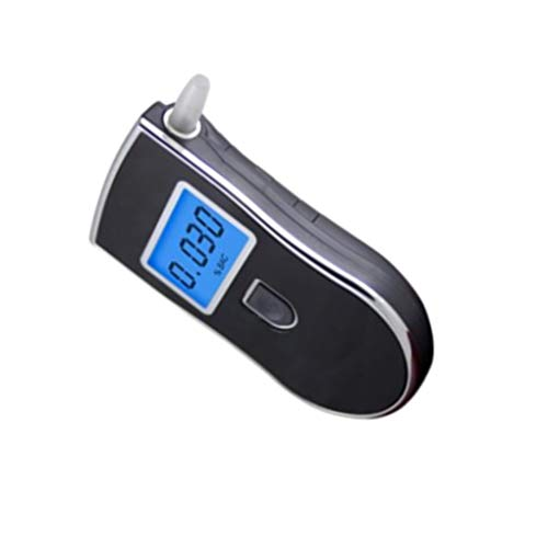 F-blue AT-818 portátil de respiración portátil probador del Alcohol Blowing Alcohol Azul Claro probador de Alcohol Digital Display Detector Alcohol