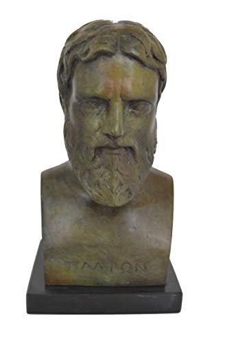 Platón–Busto bronce griega Filósofo estudiante