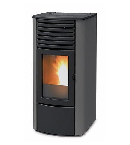 termoestufa A pellets MCZ Clio Hydro 23de 22,80KW, Ventilación frontal, Gris