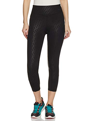 PUMA Damen Bold Graphic 3/4 Tight Leggings, Black-Emboss, M