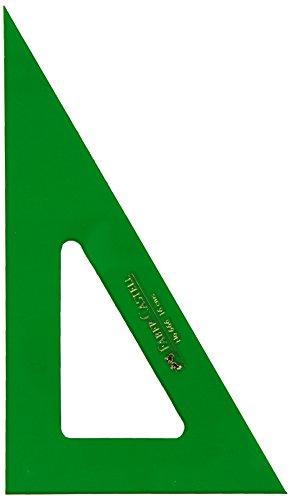 Faber-Castell 666 - Cartabón de 16 cm, color verde