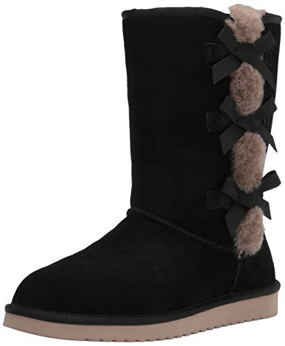 Koolaburra by UGG Women's Victoria Tall Classic Boot, Black, 43 EU