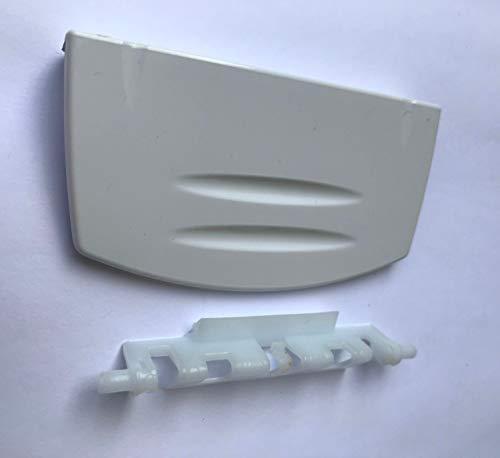 MDS Ersatzteile Türgriff mit Feder Griff für Beko Gefrierfach Kühlschrank 4244570100 Kunststoff weiß