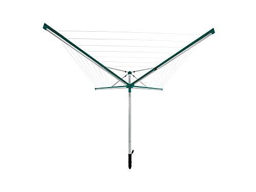 Leifheit Séchoir parapluie Linomatic 400 Deluxe, étendoir parapluie grande surface d'étendage, séchoir à linge solide et résistant, Easy-lift