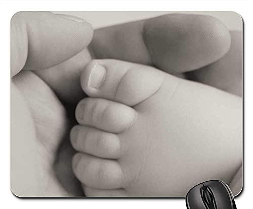 Mauspad Fuß Baby Hand Neugeborenes Baby Körperpflege Gesundheit Mausunterlage Anti Rutsch Gummiunterseite Stabiler Gaming Mousepad Verbessert Präzision Gaming Mausmatte Für Laptop/Pc, 25X30 Cm