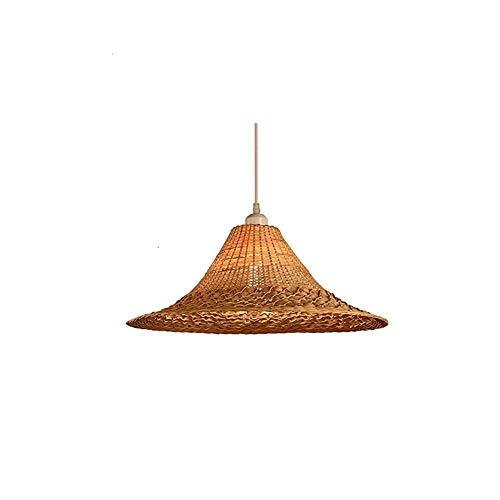 HSLJ1 Nordic retro de bambú Arte colgante de luz, simple de la vendimia que teje de bambú Lámpara colgante ajustable Altura E27 habitaciones Restaurante té Habitación Sala Cafe suspensión Iluminación