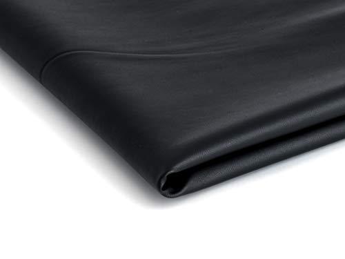 Eco-cuero imitación de cuero natural - 50x140cm - Disponible en una variedad de colores (Negro semi