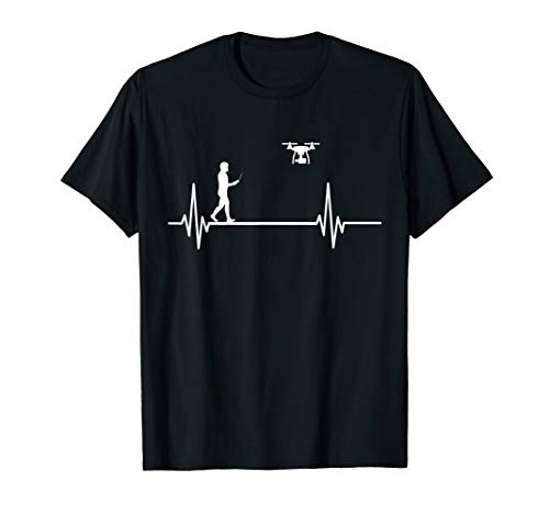 Herzschlag Drohne Puls EKG - Lustiges Drohnen T-Shirt
