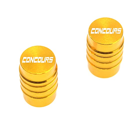Fyjhunann Válvula de neumáticos de Rueda de Motocicleta Tapa de vástago Cubiertas herméticas para Concurso de Kawasaki 14 11-19 H2 SX 18-19 hnfyj (Color : Gold)