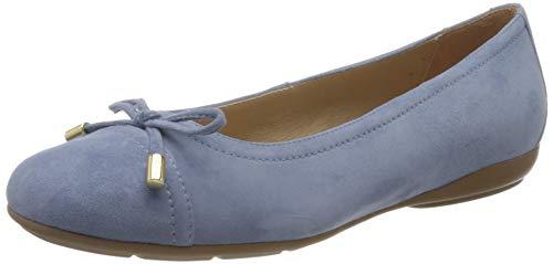 Geox Damen D ANNYTAH D Geschlossene Ballerinas, Blau (Lt Blue C4003), 37 EU