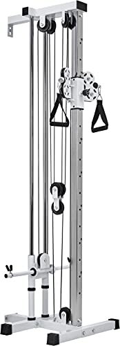 Bad Company Kabelzug-Station für die Wandmontage I Kompakter Seilzug für das Homegym I BCA-137 (Weiß)