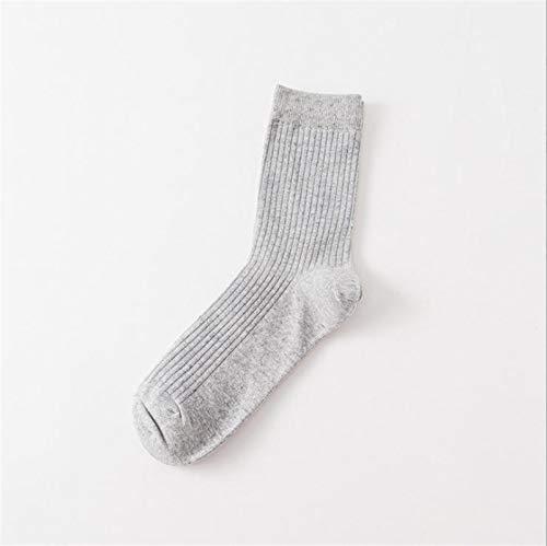Witou 10 Pares de Calcetines de algodón Casual Calcetines de Rayas Verticales Nuevo otoño Invierno de los Hombres de Color sólido Masculino Calcetines, Comodidad y Ocio