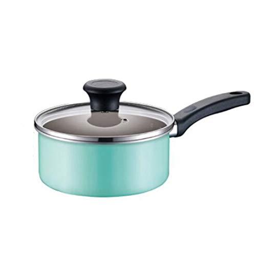 Ustensiles de cuisine Le pot de soupe de supplément de nourriture de bébé de ménage de pan-lait 16cm antiadhésif peut être des œufs au plat (Couleur : B)