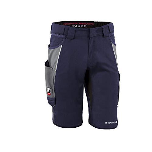 Grizzlyskin Grizzlyskin Arbeitsshorts Marine/Grau N44 - Unisex Workwear Kurze Arbeitshose für Männer und Damen, Cordura Schutzhose