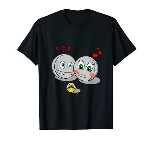Boule jeu botcha balls pétanque idée cadeau équipe T-Shirt