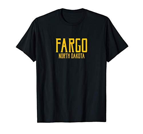 Fargo North Dakota ND Vintage Text Amber Print T-Shirt