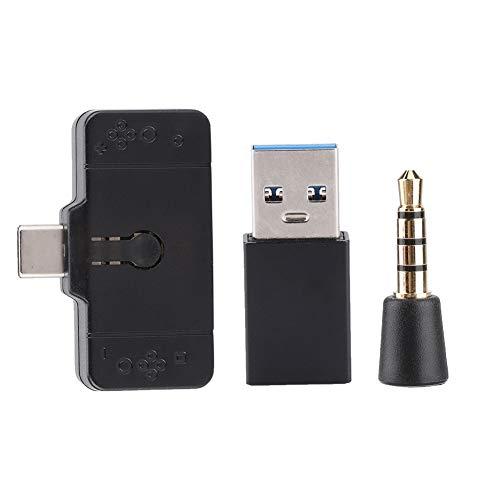 ASHATA Bluetooth Adapter Ontvanger, Hoofdtelefoon Converter USB Universele Bluetooth Headset Adapter Audio Draadloze Handsfree Adapter 5V/9V/12V/15V Voor PS4/Switch/PC