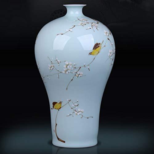 SJYDQ Creative Jingdezhen Jarrón de cerámica Adornos Pintados a Mano Then Neumático Sala de Estar Gabinete de Vino Oficina de decoración Oficina Hecho a Mano Botellas de Porcelana