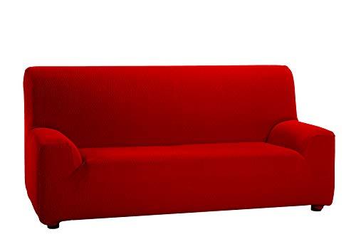 Martina Home Tunez,  Copridivano elastico, Tela (50% poliestere, 45% cotone, 5% elastan), Rosso, 3 Posti (180-240 cm larghezza)