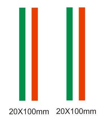 Lote 2 pegatinas vinilo impreso para coche, pared, puerta, nevera, carpeta, etc. Bandera de italia
