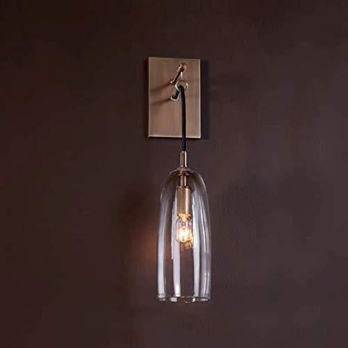 lámpara de pared Después de la pared de luz de la lámpara de cobre Todos creativo diseño moderno de la sala dormitorio de noche Modelo decorativo de la sala de la pared 10 * 42 * 15 cm de interior ilu