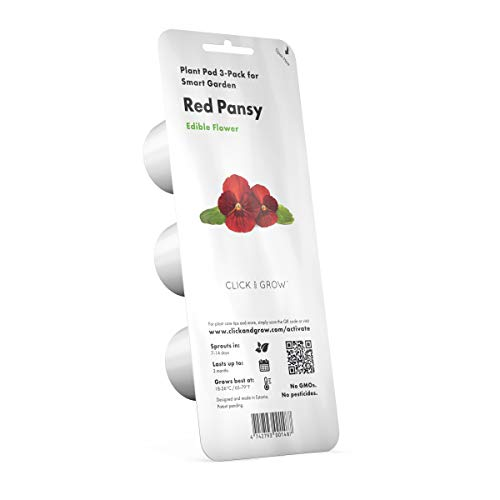 Click and Grow Smart Garden Red Pansy Plant Pods, 3-Pack
