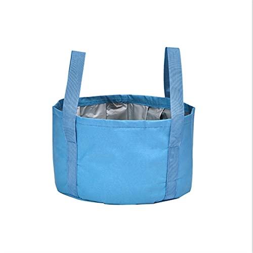 WGDPMGMZ usammenklappbareFußbadewanne Tragbare Outdoor-Reise-Klapp-Camping-Waschbecken-Bade-Fußbeutel-Eimer-neuen Fußwaschsack (Color : Blue)