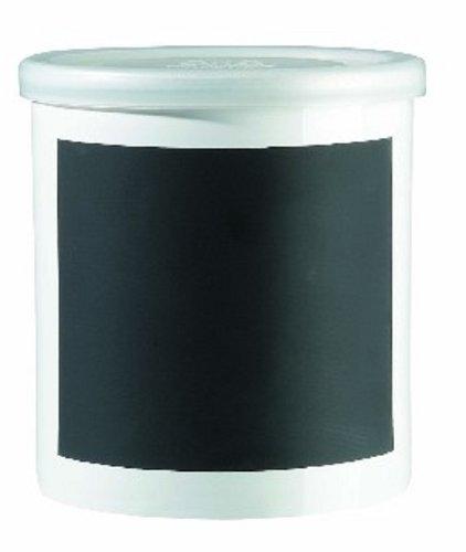 ASA 50709147 Vorratsdose mit Schieferfeld für Kreidebeschriftung - Keramik Ø 13,5 cm Höhe 14 cm