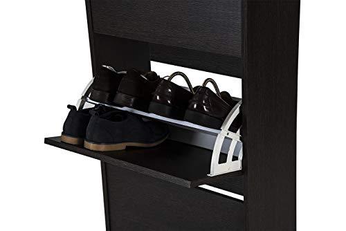 TOP KIT | Mueble Zapatero Rin 53AB | Medidas 101 x 54 x 25 cm | Armario Zapatero | Organizador de Zapatos | Wengué