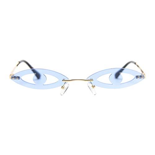 SOIMISS Divertidas Gafas de Sol de Fiesta Modelo de Gafas de Sol de Ojo de Gato Gafas Retro Novedad Gafas para Mujer Cumpleaños Verano Playa Regalos Azul