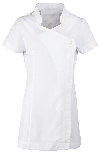 Túnica Premier en uniforme para spa, salón, esteticista, terapeuta de masaje Blanco blanco