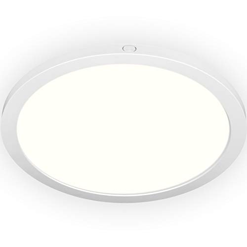 Kadision LED Flush Mount Ceiling Light, 12Inch 24W Surface Mount LED Ceiling Lights Fixture for Bedroom Kitchen, 4000K Warm White, 2040lm 100W Equivalent, Dimmable