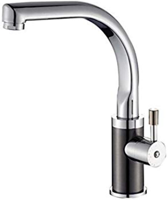 Küchenarmatur Wasserhahn Waschtischmischer Hot And Cold Wash Bowl Waschbecken schwarz Nickel Drahtziehen Sink Rotation