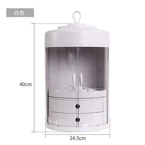 Conjunto presupuestario rotación de mobiliario de oficina contenedor de polvo transparente estanterías productos ataúd para cuidado de la piel,blanco