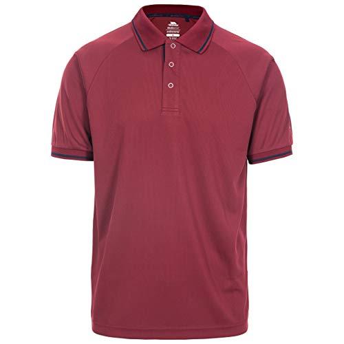 Trespass BONINGTON Tee-Shirt antimoustique - séchage Rapide - Protection UV Homme, Merlot, XXL