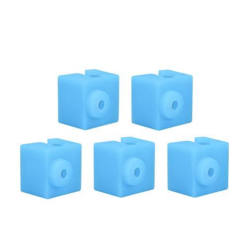 Parti di stampante 3D Hotend in silicone compatibili Per E3D-V5 / Anycubic Blocco di riscaldamento in alluminio originale - 5 PZ