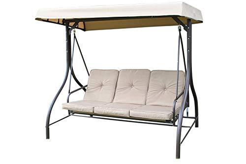 Garden Market Place Luxury Heavy Duty Garden 3 Seater Swing Seat Hammock...