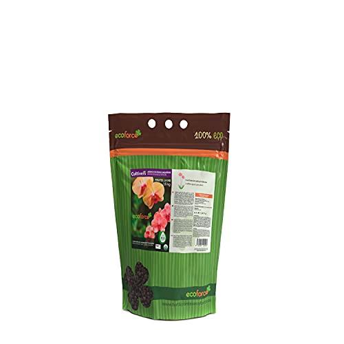 CULTIVERS Abono Ecológico Especial Orquídeas de 1,5 Kg. Fertilizante de Origen 100% Orgánico y Vegano Granulado. Potencia el Crecimiento y...