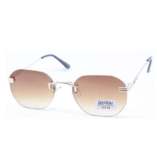 SEEYOU - Gafas de sol transparentes hexagonales para mujeres y hombres