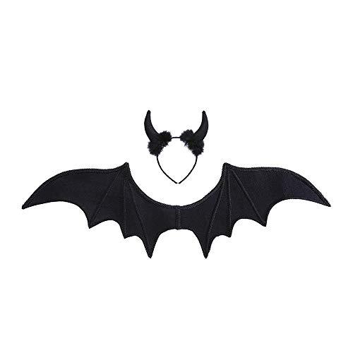 Widmann - Kostümset schwarzer Teufel, Flügel, Hörner