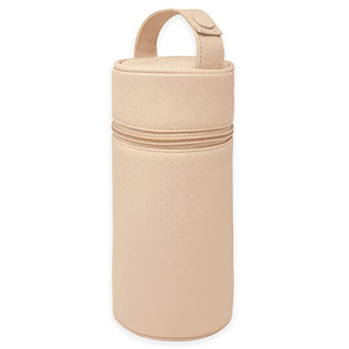 Baby Porte-biberon isotherme en cuir synthétique pour bébé Housse isotherme pour biberons ou thermos portable