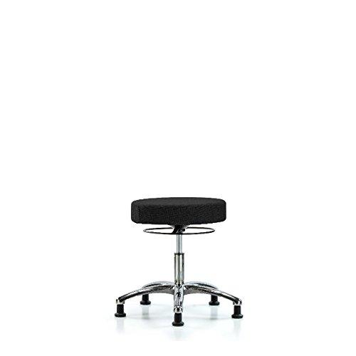 Fabric Desk Height Stool - Chrome Very popular Choice Base Black Glides