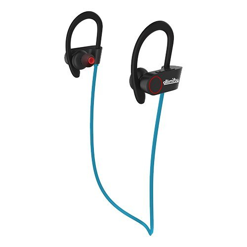 ALLIMITY Bluetooth Headphones Wireless Sports Earphones with Mic Sweatproof in Ear Earbuds Headset for Gym, Running, Cycling, Jogging(Blue)[Upgraded Version]