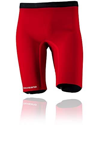 Rehband QD Thermal Shorts, Pantaloncini Termici. Unisex-Adulto, Colore: Rosso, M