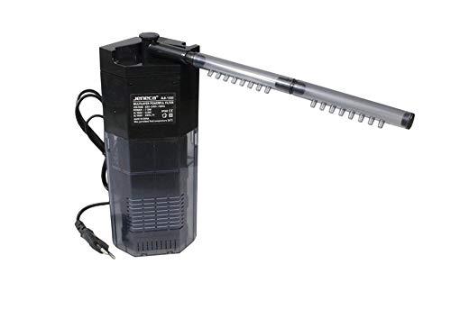 Jeneca Filtro per Acquario Interno Multistrato 7,5 Watt 220l/h Pompa per acquari d'Acqua Dolce e salata Pulizia Interna glb-1000 B13