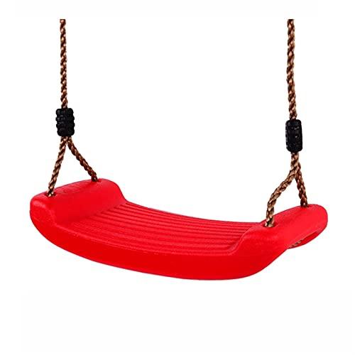 Columpio Set de Asiento Swing de Servicio Pesado para Adultos y niños Sillas de colgaje de jardín al Aire Libre, fácil de Instalar (Color : Red)
