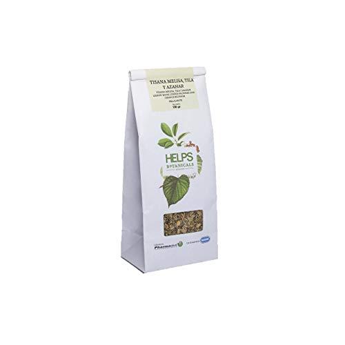 HELPS INFUSIONS - Infusion relaxante de tila, mélisse et fleur d'oranger en vrac. Tisana Relax. Sac en vrac de 100 grammes.