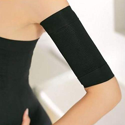 CapsA Beauty Women Weight Loss Calories Slimming Arm Shaper Massager Lose Buster Wrap Belt Slimming Compression Arm Shaper Helps Tone Shape Upper Arms Sleeve (Black)